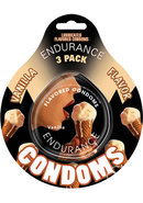 Lubricated Flavored Endurance Condoms 3 Per Pack Vanilla