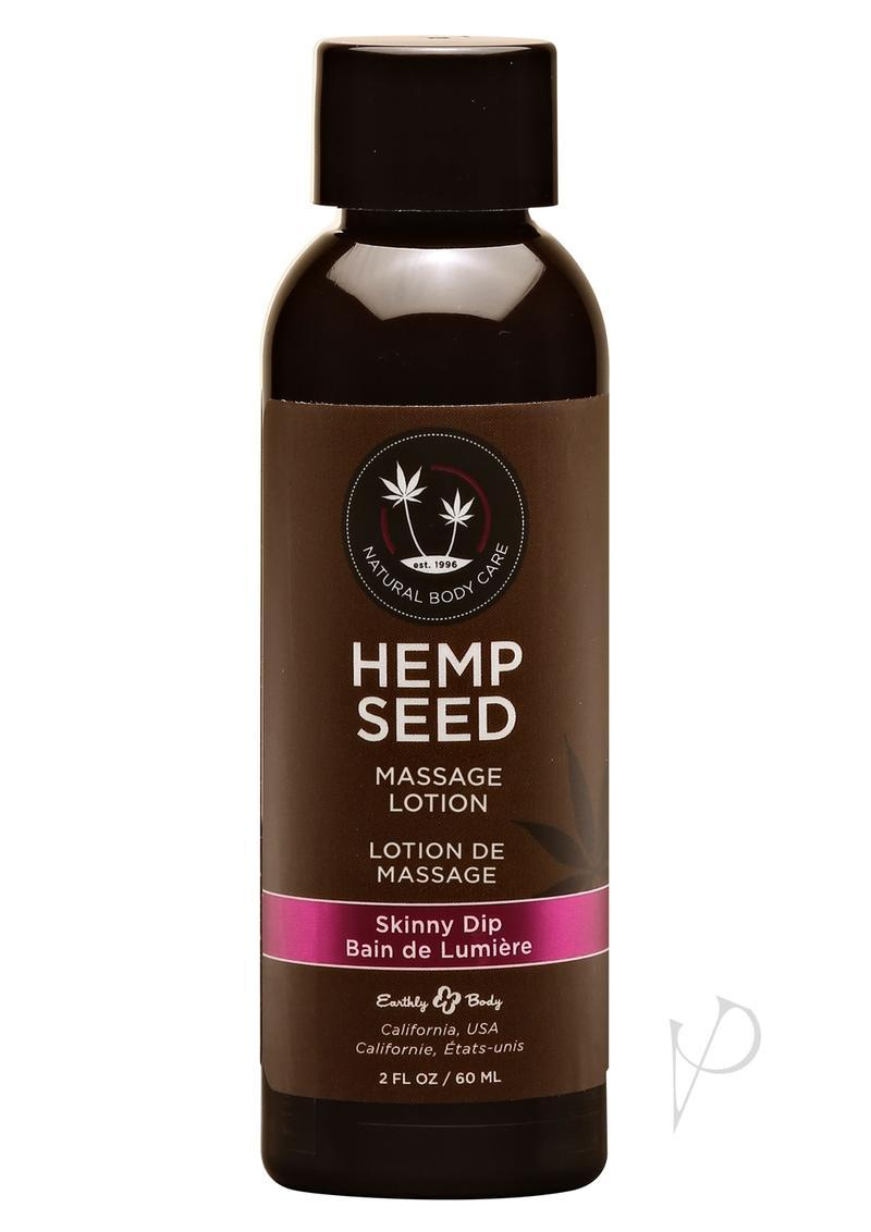 Hemp Seed Massage Lotion 100% Vegan Skinny Dip 2 Ounce